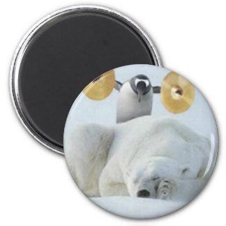 Penguin Alarm 6 Cm Round Magnet