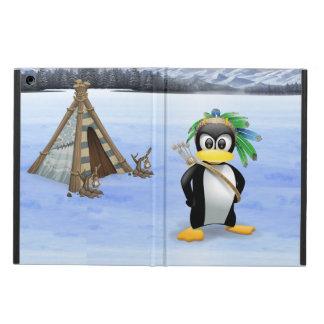 Penguin American Indian cartoon Case For iPad Air