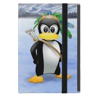 Penguin American Indian cartoon Cases For iPad Mini