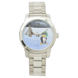 Penguin American Indian cartoon Watch