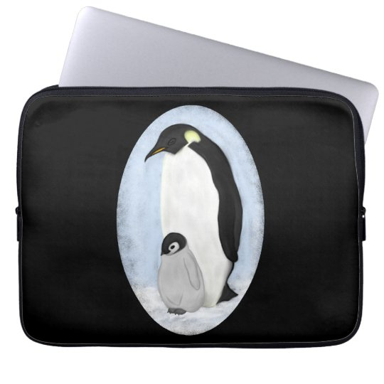 Penguin and Baby Laptop Sleeve