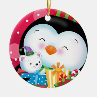 Penguin and Gifts Ornament