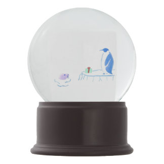 Penguin and Seal Exchange Gifts Snow Globe