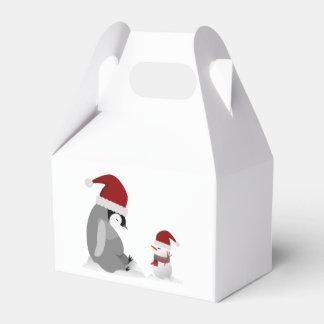 Penguin and snowman favour box