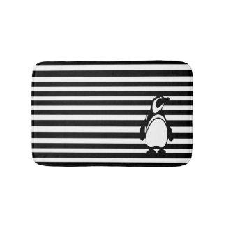 Penguin and Stripes Bath Mats