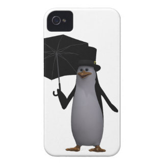 penguin and umbrella iPhone 4 Case-Mate cases