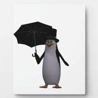 penguin and umbrella plaque