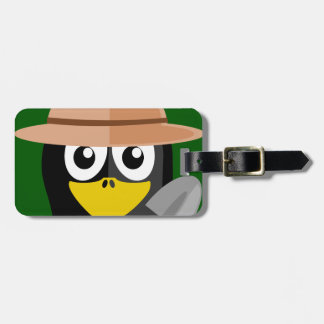 Penguin Archaeologist Bag Tag