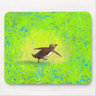 Penguin art hurried rushing Grace Under Pressure Mouse Pad