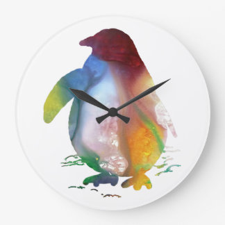 Penguin Art Large Clock