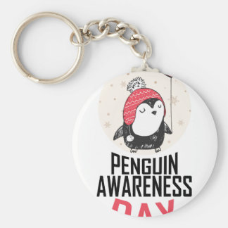 Penguin Awareness Day - Appreciation Day Key Ring