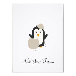 Penguin baby 17 cm x 22 cm invitation card