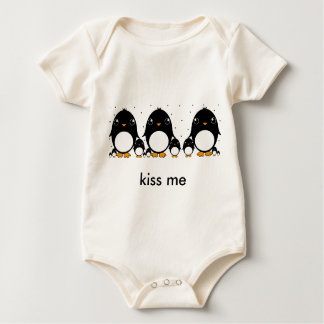 penguin baby , kiss me baby bodysuit