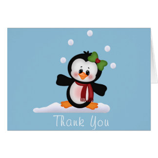 Penguin Baby Shower Thank You Note Card