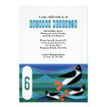 penguin BIRTHDAY PARTY custom invitation