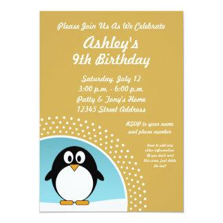 Penguin Birthday Party Invitation