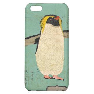 Penguin Blue Lagoon Monogram i Case For iPhone 5C