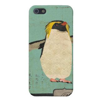 Penguin Blue Lagoon Monogram i iPhone 5 Covers