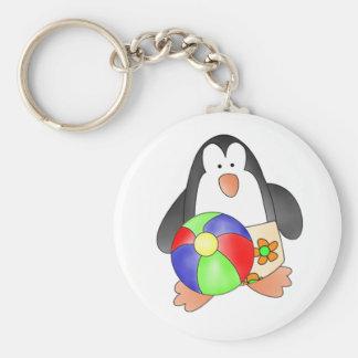 Penguin Boys Swim Keychain
