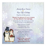 Penguin Bride and Groom Wedding Invitation Square 13 Cm X 13 Cm Square Invitation Card