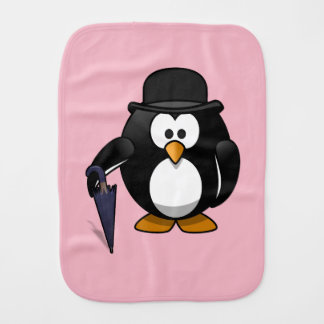 Penguin Burp Cloth