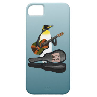 Penguin Busking iPhone 5 Cover