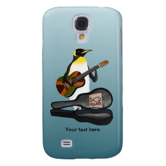 Penguin Busking With Jamaica Flag Guitar Galaxy S4 Cases