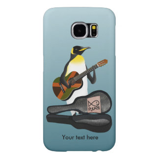 Penguin Busking With Jamaica Flag Guitar Samsung Galaxy S6 Cases