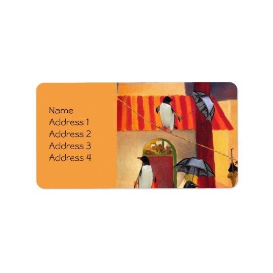 Penguin Cafe Address Label