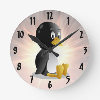 Penguin cartoon Wall Clock