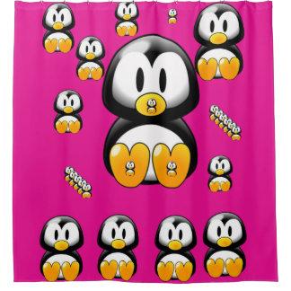 Penguin children's shower curtain