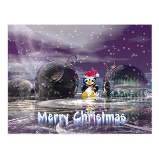 Penguin Christmas Card Post Card