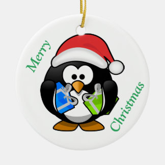 Penguin Christmas & Happy New Year Ornament
