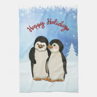 Penguin Christmas Tea Towel