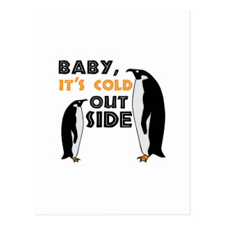 Penguin Cold Postcard