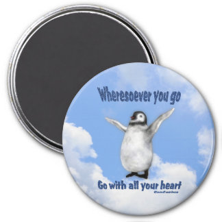 Penguin Confucius Inspirational Quote Magnet