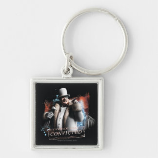 Penguin - Convicted Silver-Colored Square Key Ring