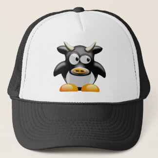 Penguin Cow With Horns Trucker Hat