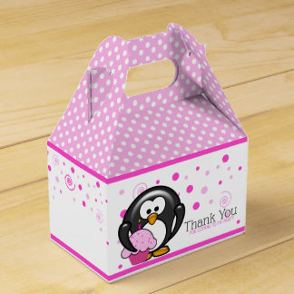 Penguin Cupcake Birthday Party Favour Box