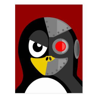 Penguin Cyborg Postcard