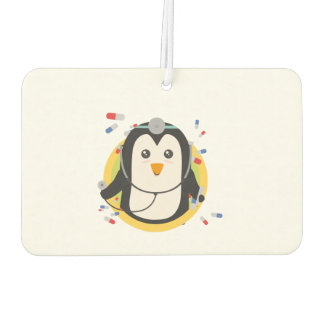 Penguin doctor in circle Z2j5l Car Air Freshener