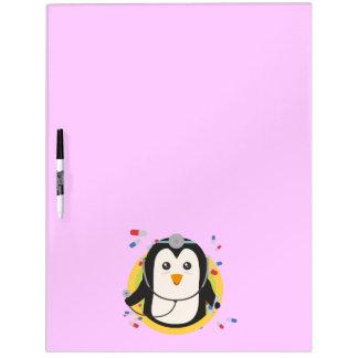 Penguin doctor in circle Z2j5l Dry Erase Board