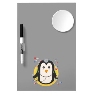 Penguin doctor in circle Z2j5l Dry Erase Board With Mirror