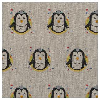 Penguin doctor in circle Z2j5l Fabric