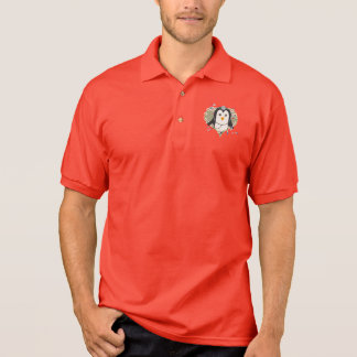 Penguin doctor with flower heart Zuq99 Polo Shirt