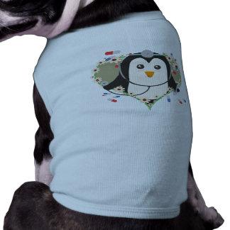 Penguin doctor with flower heart Zuq99 Sleeveless Dog Shirt