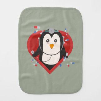 Penguin doctor with heart Zal28 Burp Cloth