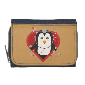 Penguin doctor with heart Zal28 Wallets