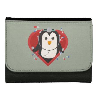Penguin doctor with heart Zal28 Wallets For Women