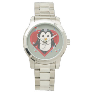 Penguin doctor with heart Zal28 Watches